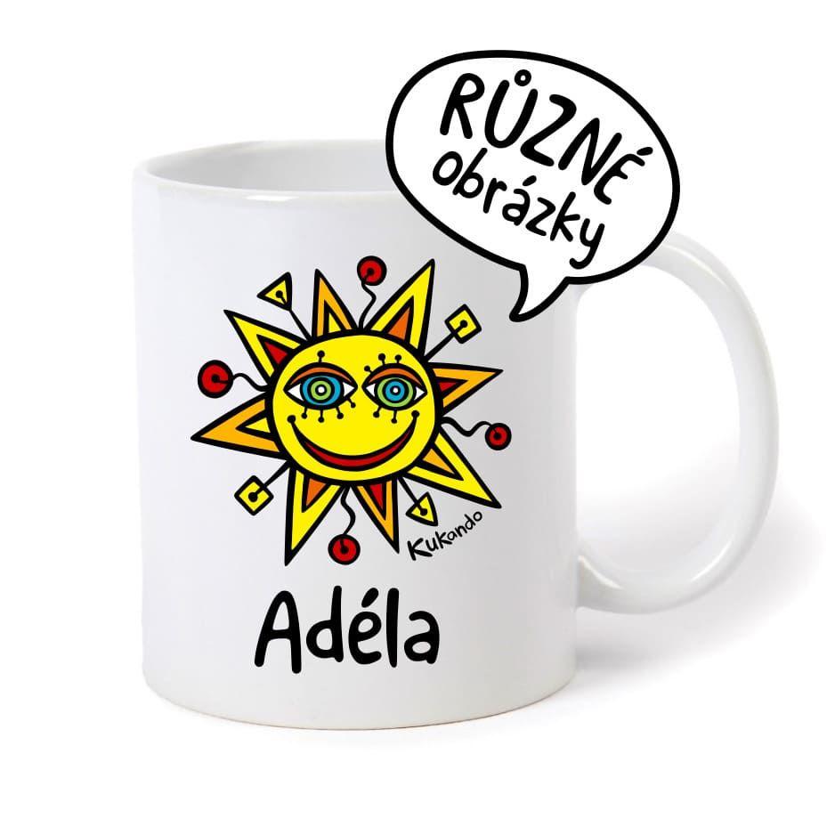 keramický hrnek se jménem Adéla