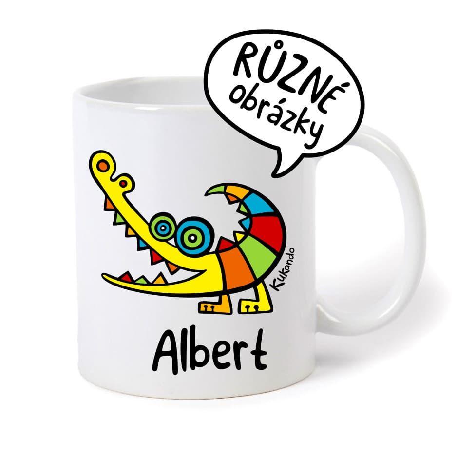 keramický hrnek se jménem Albert