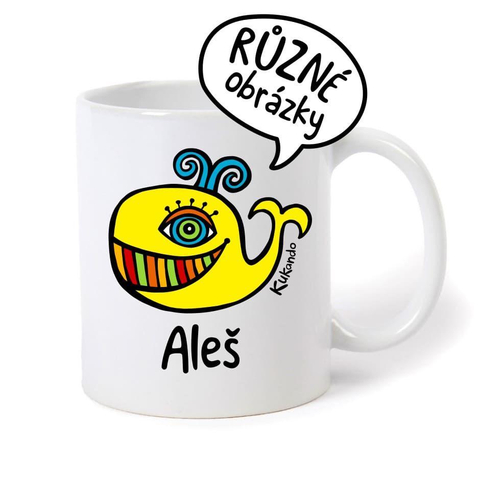 keramický hrnek se jménem Aleš