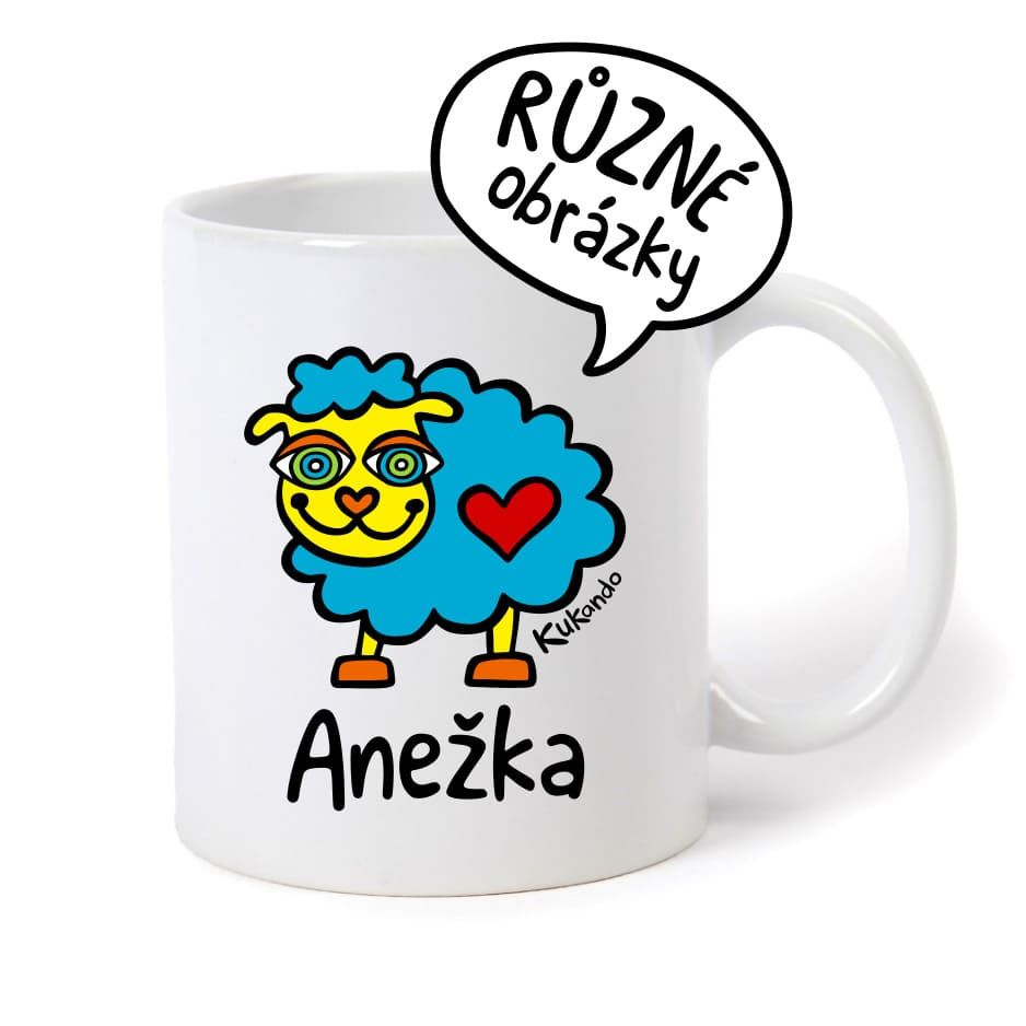 keramický hrnek se jménem Anežka