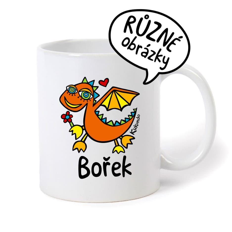 keramický hrnek se jménem Bořek