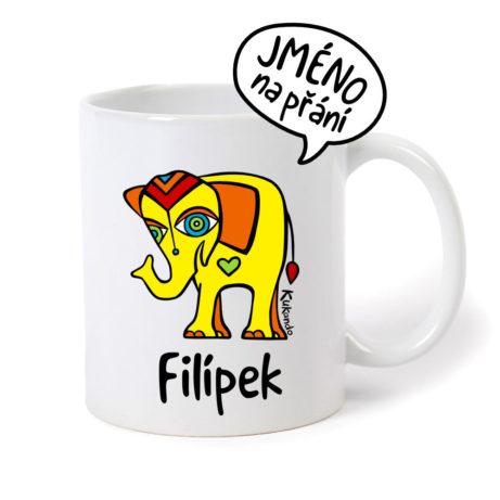 originální dětský hrnek se jménem ase slonem