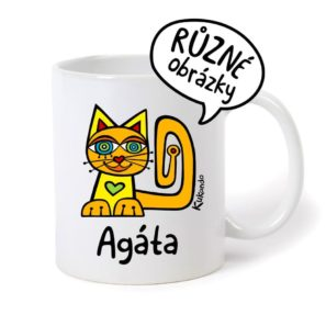 keramický hrnek se jménem Agáta