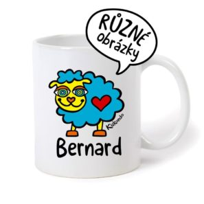 keramický hrnek se jménem Bernard