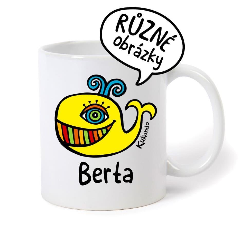 keramický hrnek se jménem Berta