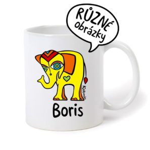 keramický hrnek se jménem Boris